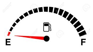 20831681-fuel-gauge-empty-on-white
